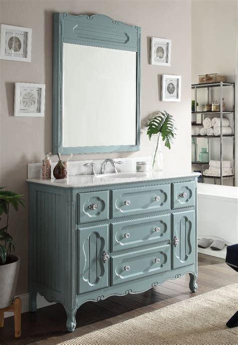 Antique Blue Bathroom Vanity by Adelina 48 Inch Antique Cottage Bathroom Vanity Antique