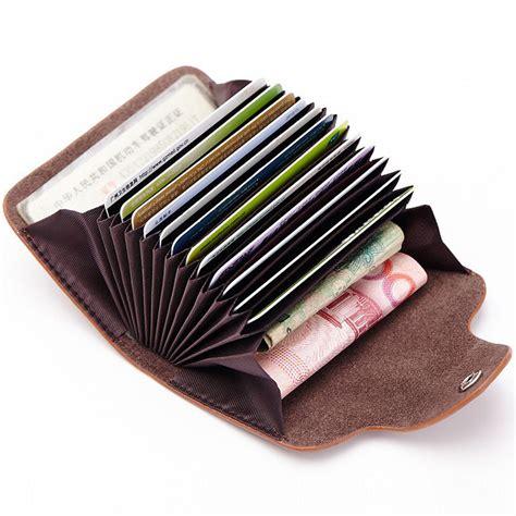 Dompet Kartu Bahan Kulit Mini Wallet dompet kartu elegan bahan kulit brown jakartanotebook
