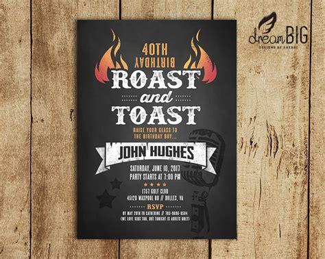 40th birthday invitations pdf roast and toast birthday invitation 21st 30th