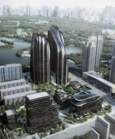 designers architects chaoyang park plaza by mad architects breaks ground in beijing