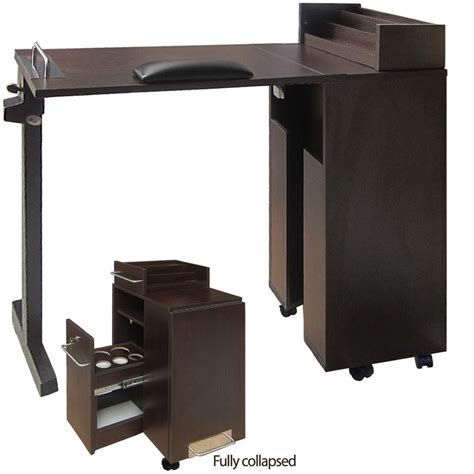 nail salon table eurostyle portable manicure table foldable nail table wood the nail superstore