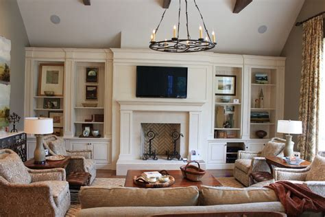 fireplace built ins living room traditional with ceiling