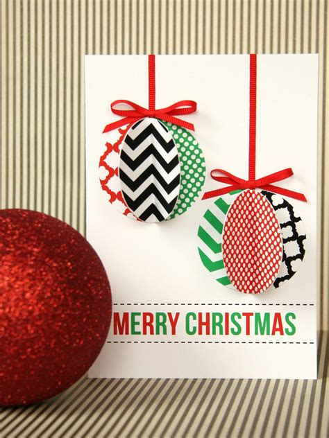 ornament card template handmade modern ornament card hgtv