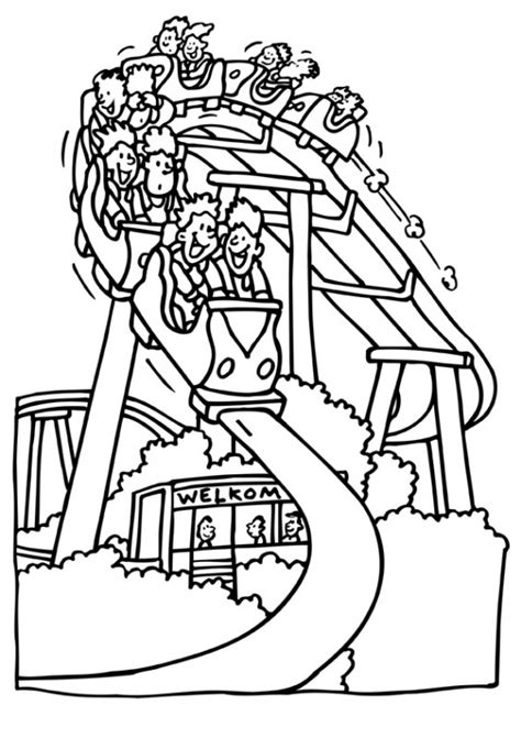 roller coaster printables the best free coloring pages