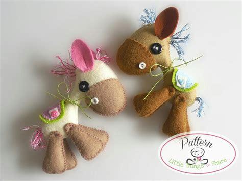 pattern for felt donkey horsy pdf sewing pattern diy felt horse toy pattern nursery