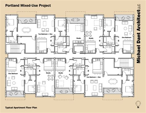 mixed use floor plans portland mixed use project michael dant architect