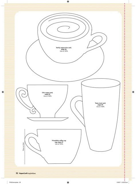 free card maker template 34 best cup templates images on s day