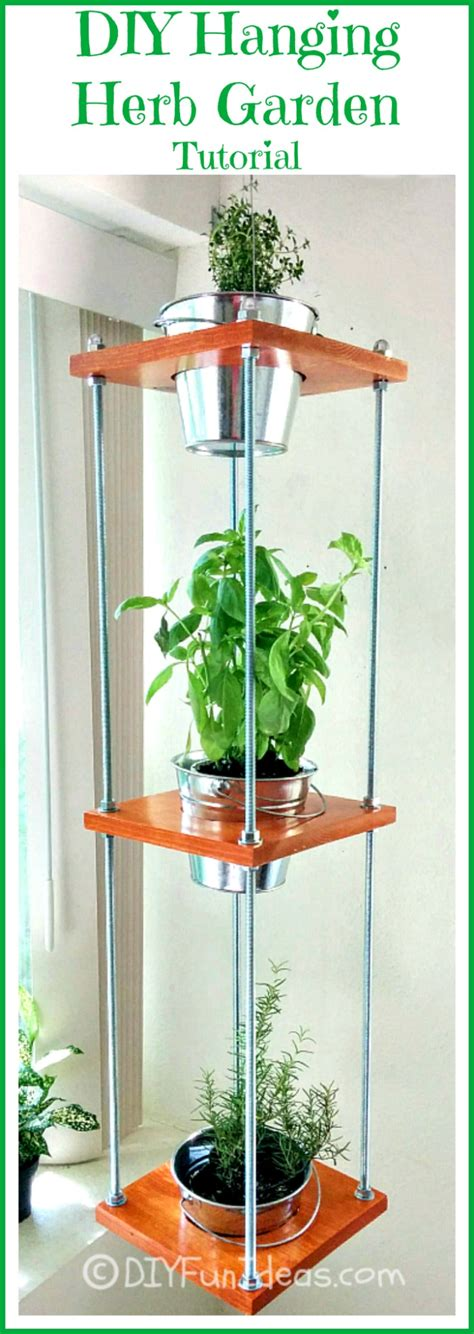 diy hanging herb garden diy concrete hand planters bowls do it yourself fun ideas