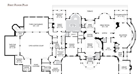 million dollar floor plans million dollar house plans