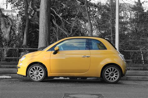 fiat 500l yellow yellow fiat 500 on freemages