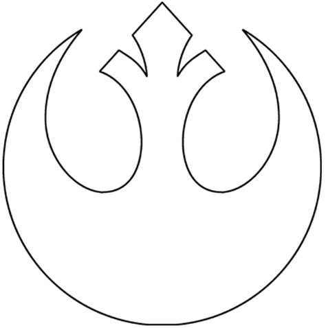 Wars Rebel Symbol Outline by Rebel Legion View Topic Show Your Jedi Tatoos