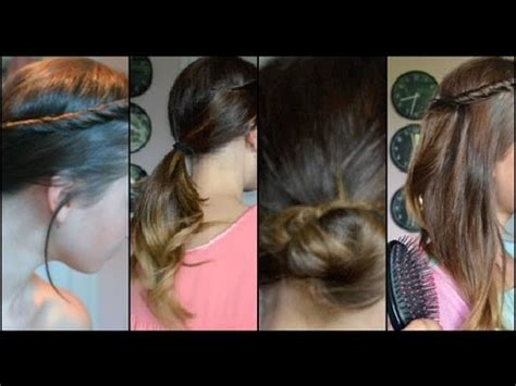 cute hairstyles to impress a boy cute easy quick school hair styles youtube