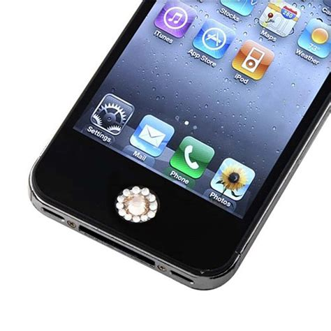 home button sticker for apple iphone ipod touch