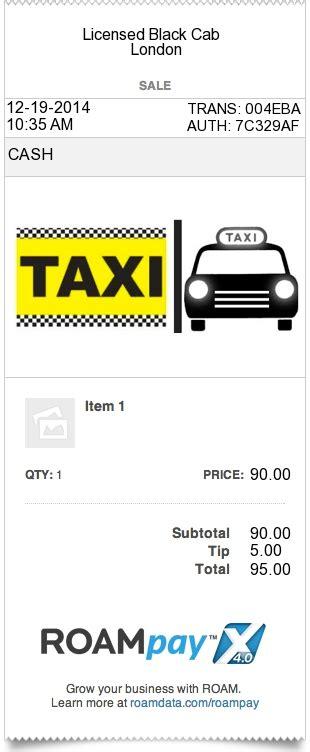 dublin taxi receipt template taxi receipt