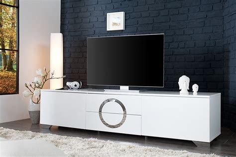 Supérieur Meuble Tv Alinea Blanc Laque #4: Meuble-tv-blanc-laque-2portes-2-tiroirs-osmoz-180-cm.jpg