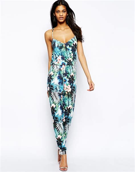 Tropical Print Jumpsuit lipsy cami jumpsuit in tropical print