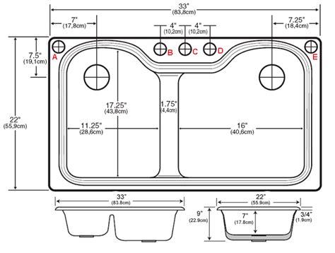 kitchen sink specs designfree