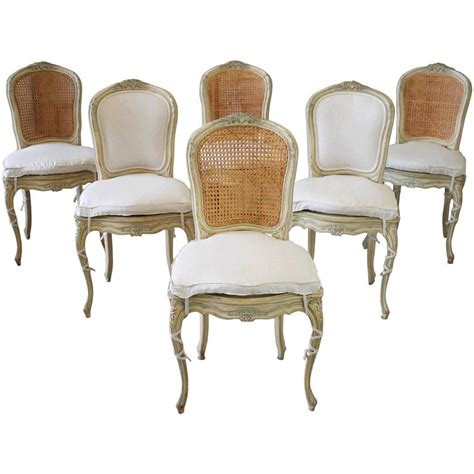 Louis Xv Dining Chairs 19th Century Louis Xv Antique Dining Chairs With Original Paint At 1stdibs