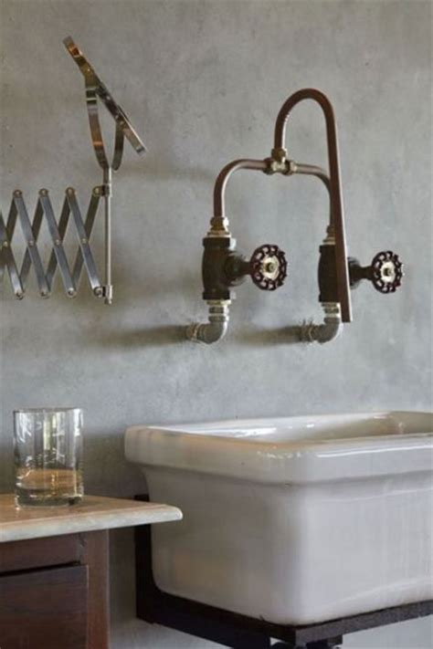 wall mounted faucet   copper piping  industrial water shut  valves  whbc