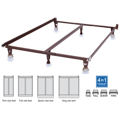 knickerbocker bed frames knickerbocker heavy duty 4in1 metal bedframe with wheels