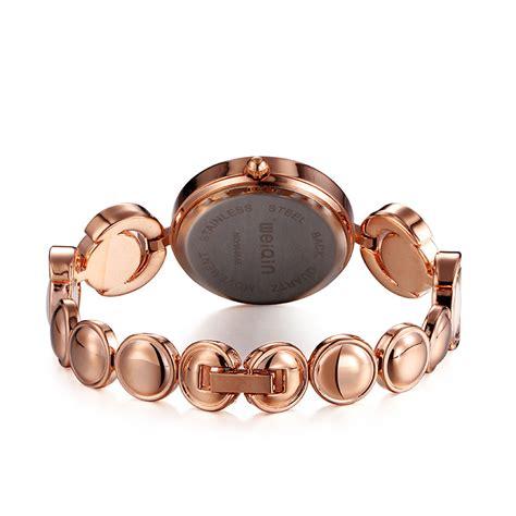 weiqin jam tangan analog wanita wei848586 white gold