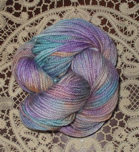multi colored yarn wool yarn worsted weight dyed multi colored pastel