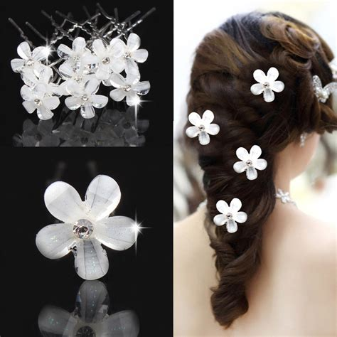 5 Bridal Hair Accessories To by Haimeikang 5pc Bridal Wedding Flower Hairpin Hair