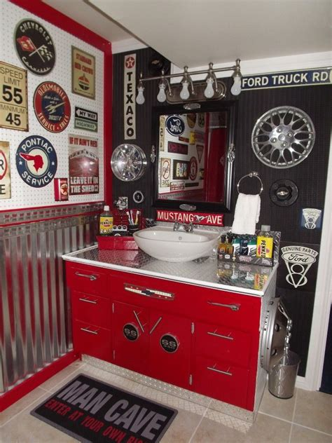 garage bathroom ideas our boys new vintage car auto bathroom easy and