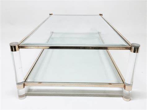 Vintage Glass Coffee Table Vintage Vintage Glass Coffee Table 1970s