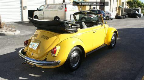 yellow volkswagen convertible 1969 volkswagen beetle bug convertible 2 owners only