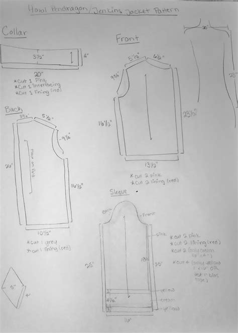 pattern making of jacket how i made my howl jacket pattern by libracos on deviantart