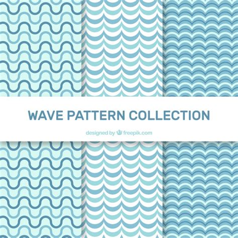 wave pattern vector ai various wave patterns in flat design vector free download