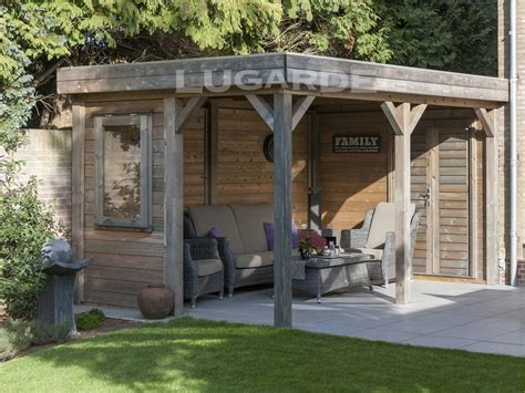 flachdach pavillon metall flat roof gazebos archives keops interlock log cabins