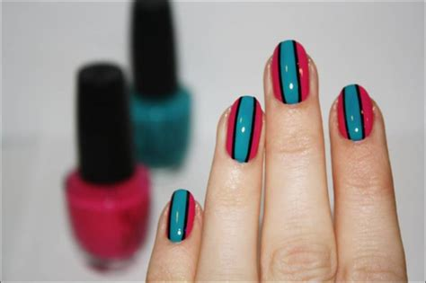 nail rubber st design some stripy nails