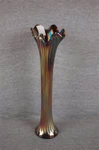 Blue Carnival Glass Vase 248 Fenton Carnival Glass Blue Thin Rib 16 Quot Vase Lot 248