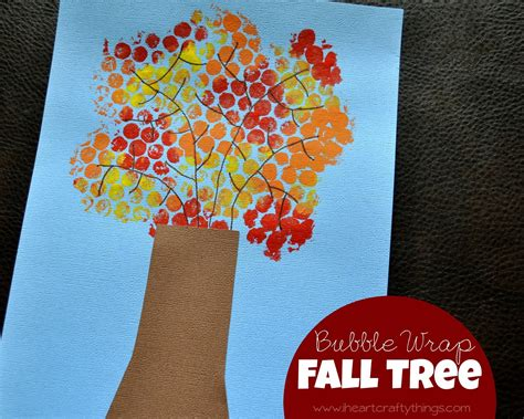 craft things for fall tree craft made with wrap i crafty things