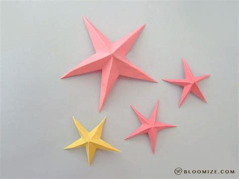 how to make an origami starfish galaxy of origami bloomize