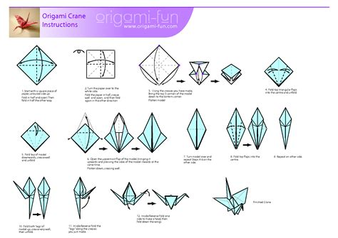 Steps To An Origami Crane - origami crane pljcs children s department