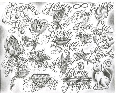 tattoo fonts gangster style chicano script cholo chicano style