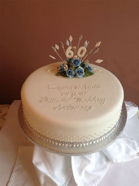Diamond wedding cake   Anniversary Cakes   Pinterest