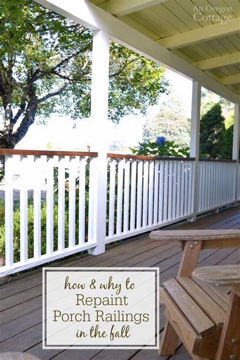 repaint porch railings   fall