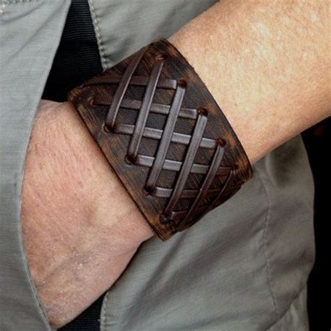 leather tattoo antique s brown leather cuff bracelet leather wrist