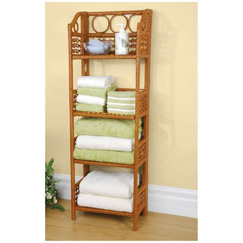 wicker bathroom shelf folding wicker shelf out of stock stoneberry