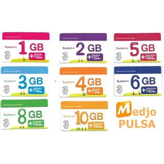 Voucher 3 Data 3gb voucher paket kuota data tri 3 three 1gb 2gb 3gb