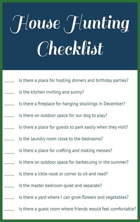 house hunting checklist house hunting checklist homeowner bound pinterest