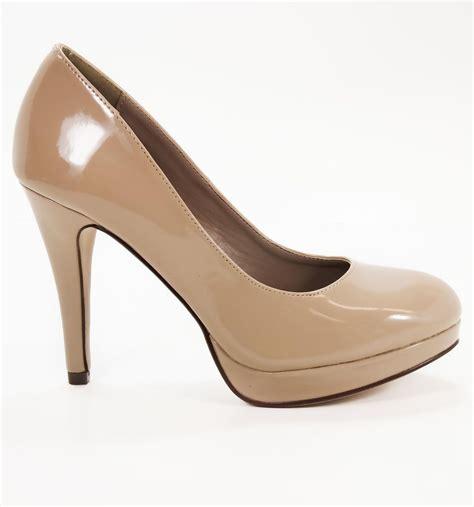 delicious shoes eiffel dk beige patent by my delicious shoes plain