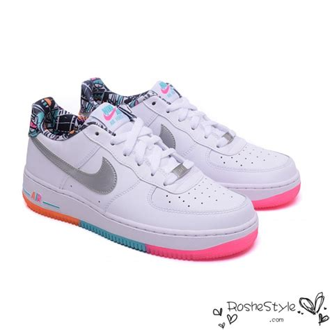Nike Air One Af 1 Rainbow nike af1 rainbow air 1 low shoes womens mens white