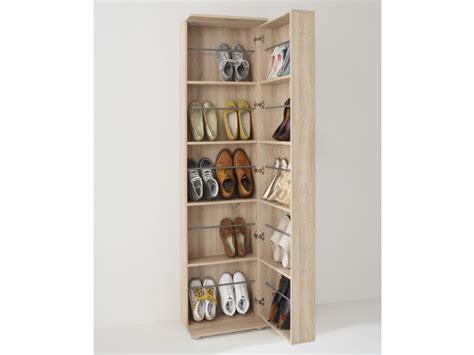 Meuble à chaussures 1 porte & 1 miroir, 20 paires, WALKER