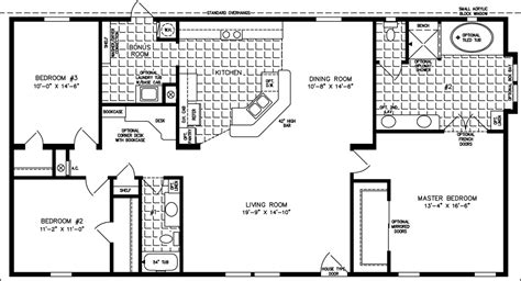 jacobsen mobile home floor plans the tnr 4582w manufactured home floor plan jacobsen