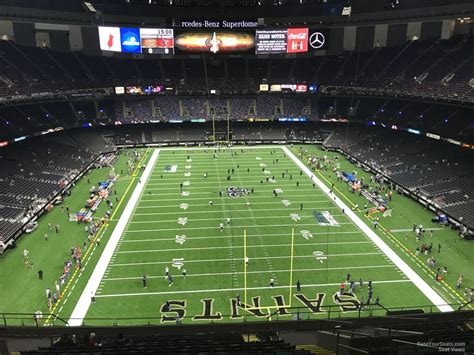 superdome sections superdome section 602 new orleans saints rateyourseats com